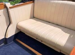 Convertible vintage wedding car hire in Lewes